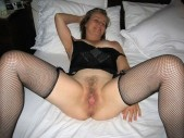 Free porn pics of Your wife spreads her nylon legs for me 1 of 40 pics