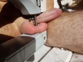 Free porn pics of Balls in sewing machine fantasy 1 of 4 pics
